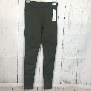 Jvini Olive Moto Army Green Jeggings New